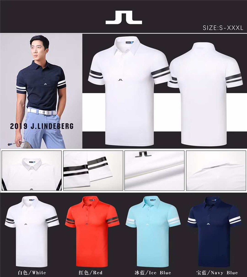 New mens Sportswear Short sleeve JL Golf T-shirt 4colors Golf clothes S-XXL in choice Leisure Golf shirt Free shippingNew mens Sportswear Short sleeve JL Golf T-shirt 4colors Golf clothes S-XXL in choice Leisure Golf shirt Free shipping