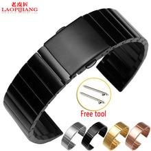 Liaopijiang Стальной ленты Garmin лучше Мин vivomove смарт часы с нержавеющей стальной ленты 22 ММ