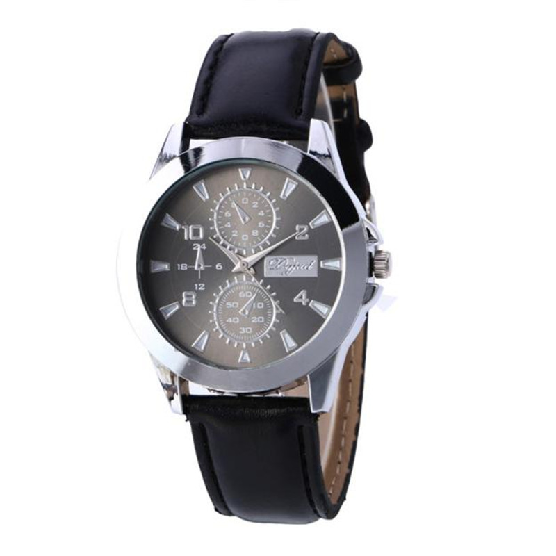 2018 New hot amazing h some wonderful classical beautiful Parnis Three Areas Full Chronograph Mens Quartz Watch P*21