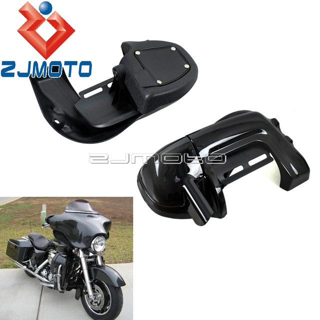 US $68 13 5% OFF|Black Motorcycle Lower Vented Fairing Leg Sleeve Case For  Harley Road King Street Glide Electra Glide Ultra Classic 1983 2012-in