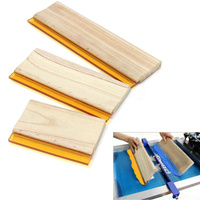 3pcs Silk Screen Printing Squeegee Blade Ink Scaper Scratch Board Tools Wearproof Wood Handle Squeegees 16cm