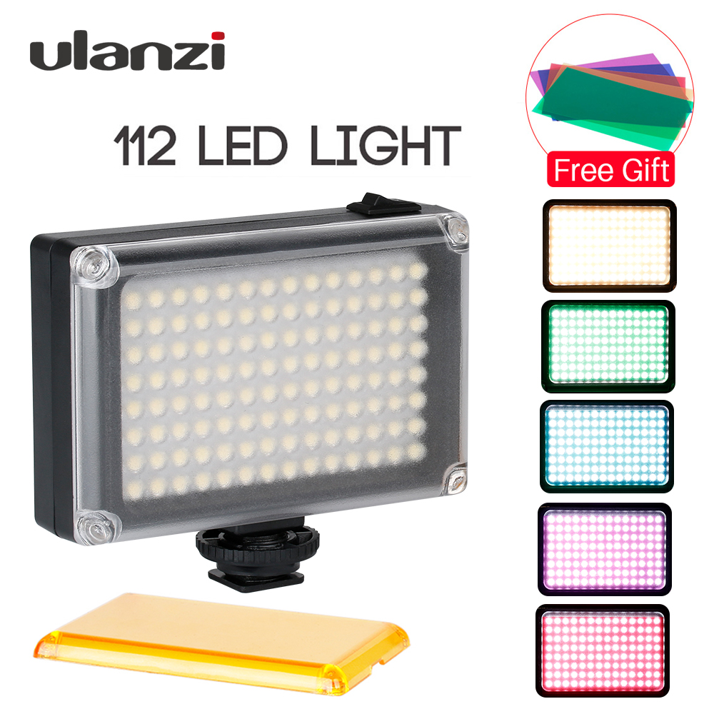 Ulanzi 112 Dimmable LED Video Light Rechargeable Photo Studio Light 3300-5500K for DSLR Camera Video light Wedding Videomaking image