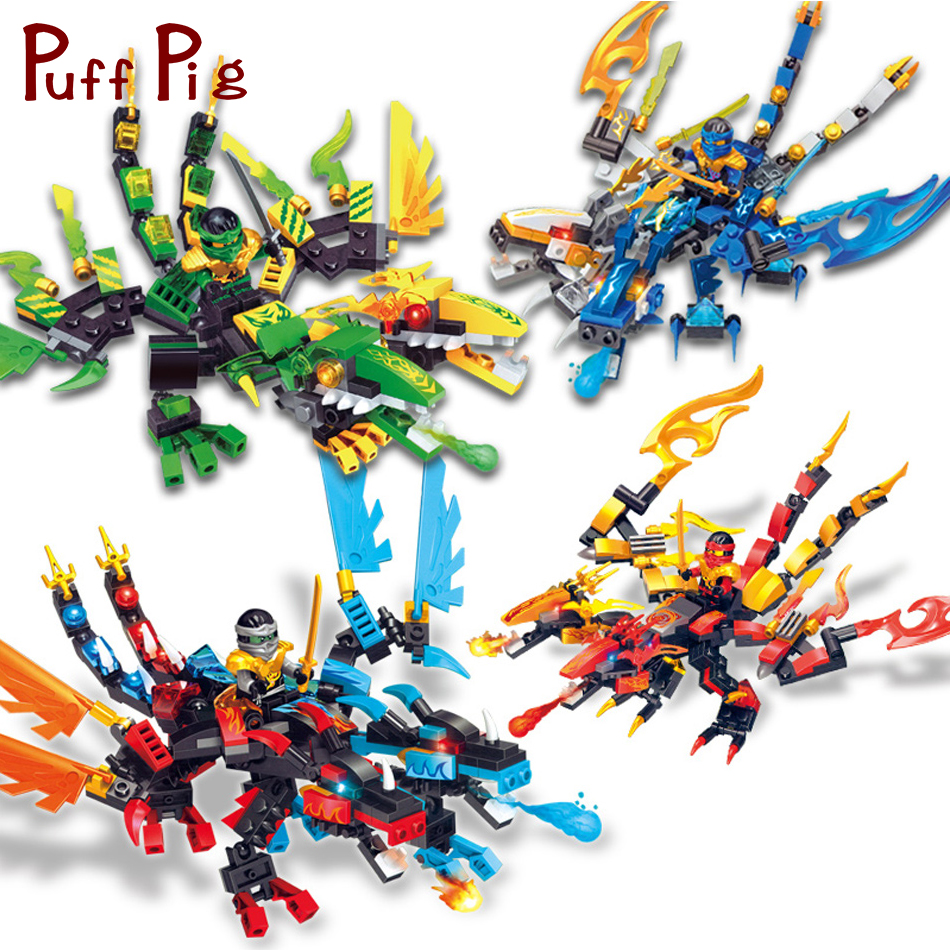 4 Sets/lot Ninjaed Dragon Knight Action Figures Building Blocks Compatible Legoed Ninjagoes Movie City Kids Christmas Gift Toys цена 2017