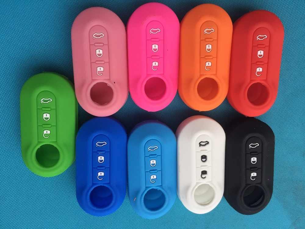 Pusakieyy 3 кнопки пригодный для FIAT 500 PANDA PUNTO Браво LANCIA YPSILON STILO DUCATO DELTA держатель силиконовый чехол дистанционного ключа чехол