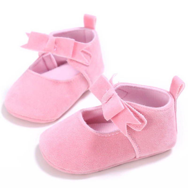 Hot Sale Newborn Baby Cute Bowknot Heart Shoes Newborn Baby Girl Soft Bebes Shoes 2017 New Arrival Fashion Soft First Walkers