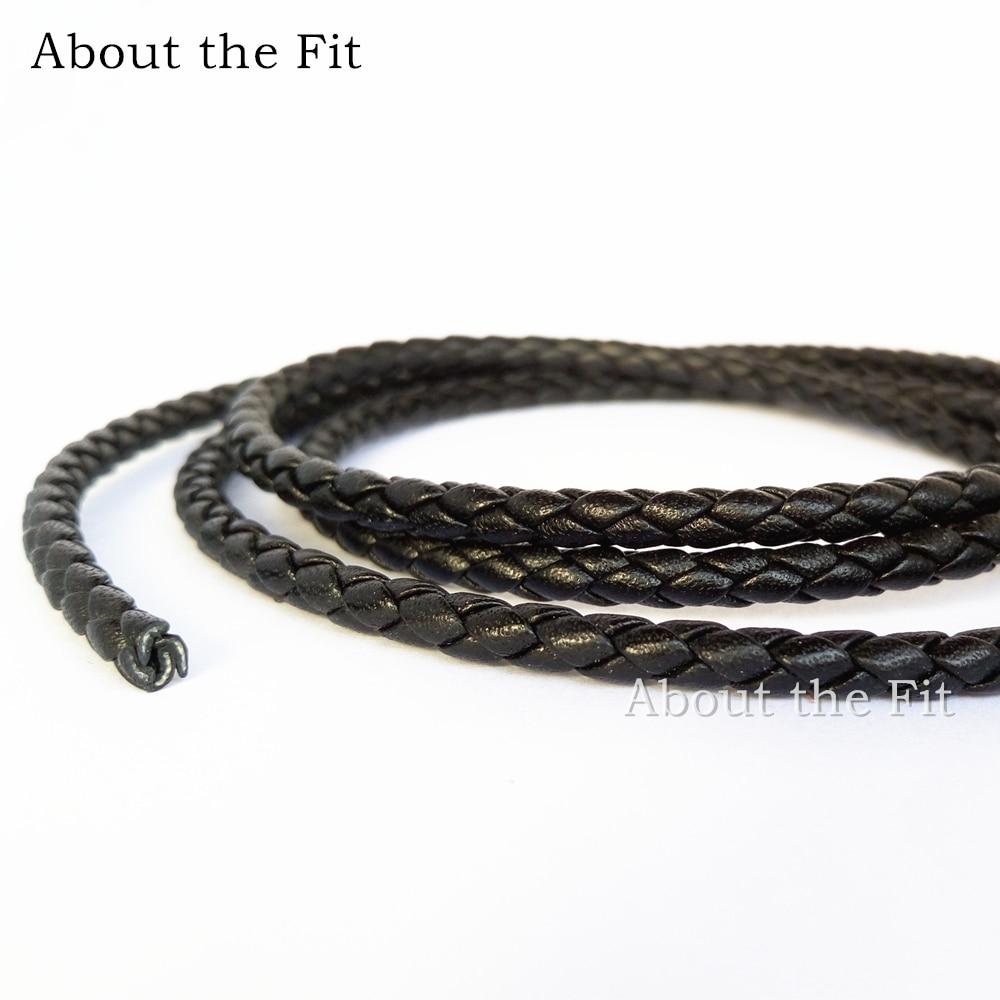 À propos de l'ajustement 4mm 20 mètres en cuir véritable tressé cordon en cuir de vache Nappa artisanat perles accessoires fabrication de bijoux corde tissée