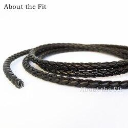 Около 4 мм 20 метров натуральная Плетеная кожа шнур наппа коровья кожа ремесла фурнитура для бусин ювелирных изделий тканая веревка