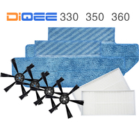 DIQEE Robot Vacuum Cleaner Spare Parts Kits For DIQEE 330 350 360 Replacement Kits Cleaning Spare