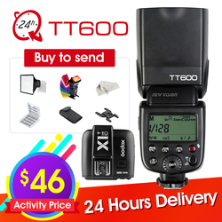 Godox TT600 2.4G Wireless Camera Flash Speedlite + X1T-C/N/F Transmitter Wireless Flash Trigger for Canon Nikon Fujifilm Olympus