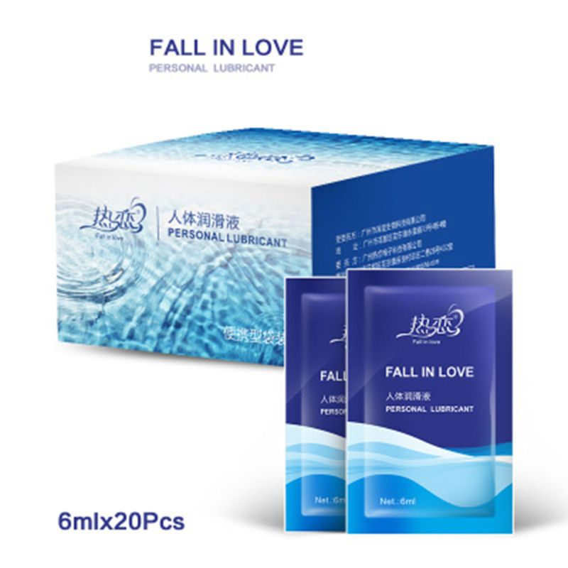 20 Pcs Water Based Smooth Lubricant Vagina Anal Sex Lube Gay