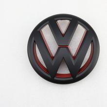 130mm Matt Black Red Front Grill Logo Emblem Badge Car for Volkswagen Jetta MK6 2011-2014