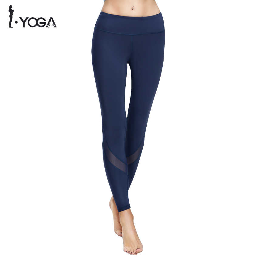 Mallas deportivas de Fitness Yoga para mujer, mallas de malla ajustadas para Yoga, pantalones de Yoga para mujer, pantalones para correr, mallas para mujer, K9-002