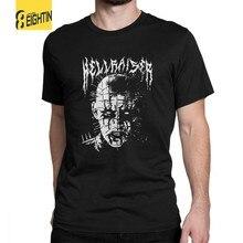 dfd3e196e Black Metal Pinhead Hellraiser Puzzlebox Halloween T Shirt Man's Breathable  Tops Funky T-Shirt Crewneck 100% Cotton Tees