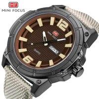 Mini Focus Luxe Merk Mannen Luxe Horloge Militaire Quartz Horloge Man Analog Datum Klok Nylon Strap Horloges Relogio Masculino