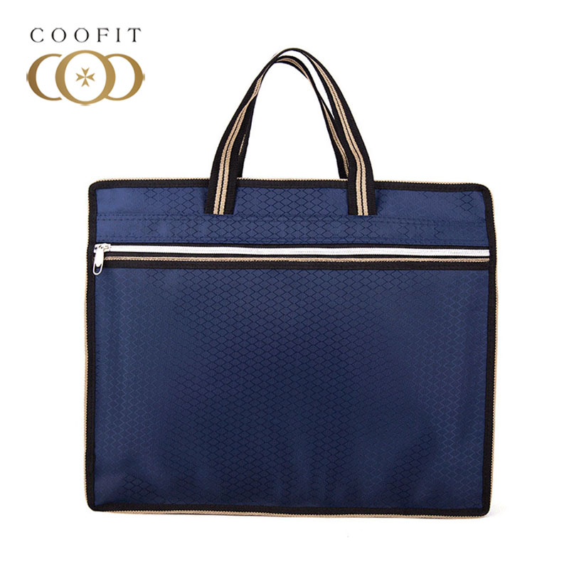 Coofit 2019 New Business Laptop Briefcase For Men Dark Blue Compact Slim Office Briefcase Fashionable Business Bag With Handle