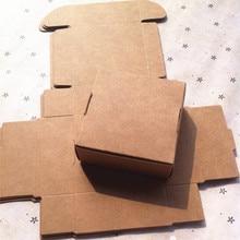 7*7*3 см коричневой крафт-бумаги упаковка подарочная коробка, Свадебная вечеринка подарок бутик ювелирных изделий упаковочные коробки мыльницей