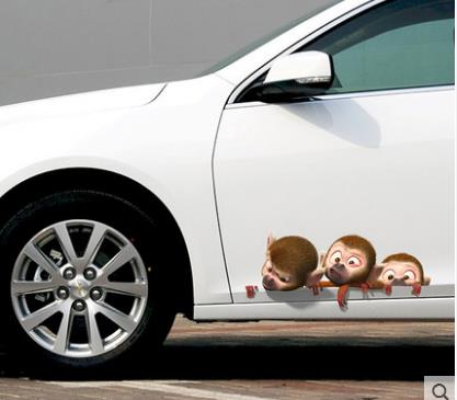 Personality Creative Car Sticker Body Blocking Scratch Decal 3d Stereo Bumper Door Decoration Sticker-31