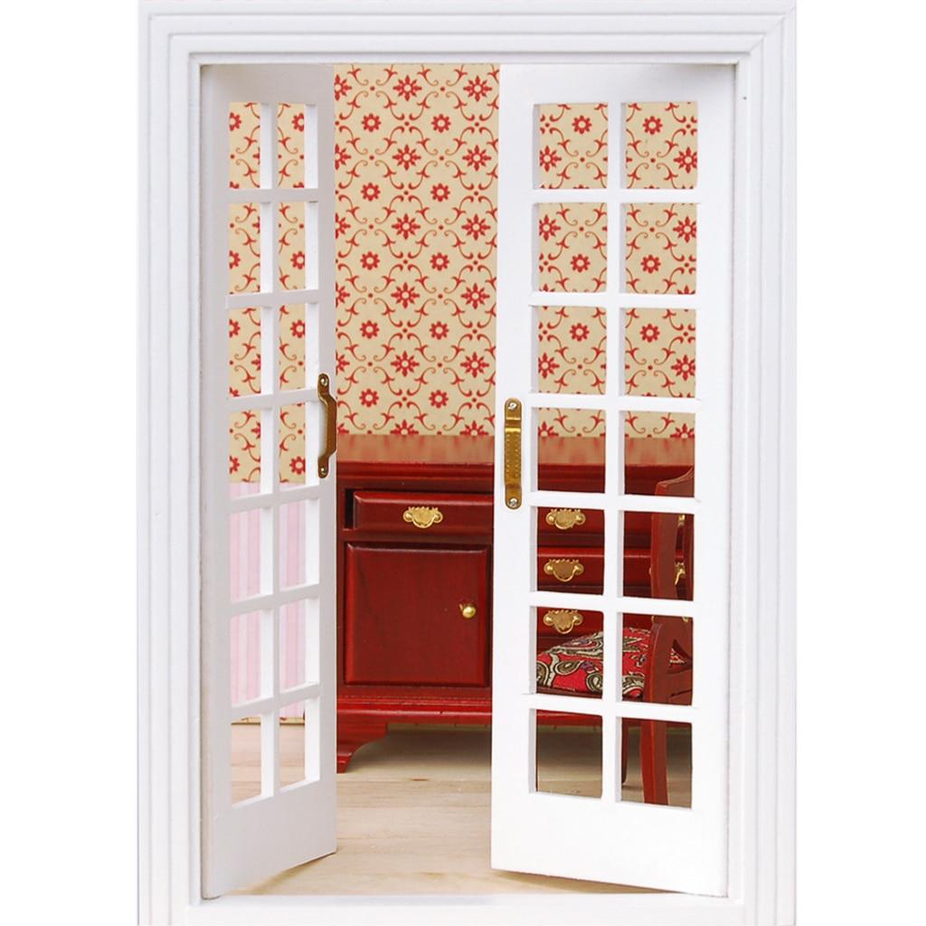 Alta calidad 1/12 Dollhouse miniatura Muebles exterior de madera ...
