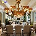 Фумат барокко абажур стеклянные люстры лампы Тиффани витражные светильники для гостиной Европейский классический свет