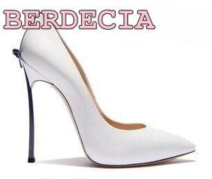 Vente Cuir Chaussures Mince Talon Printemps Blanc Bout Cravate Petit Arc Robe Brillant Pointu Sur Nouvelle Mode Haute En Pompes cHUqACH