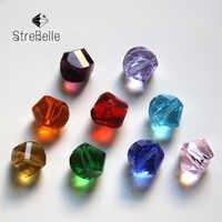 100 unids/bolsa 10mm cuentas de cristal de giro hecho a mano DIY pulsera collar joyería hacer cuentas