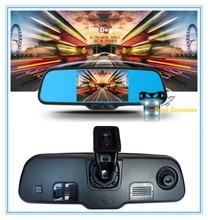 Dual lens capacitive screen 5″ Android 4.0 Car Rear view mirror Car DVR Camera Rear View camera Bluetooth Wifi GPS MP5 PIP USB
