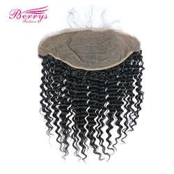 [Berrys Fashion] 13x6 фронтальная кружевная бразильская глубокая волна натуральные волосы бесплатная часть швейцарское кружево натуральный цвет