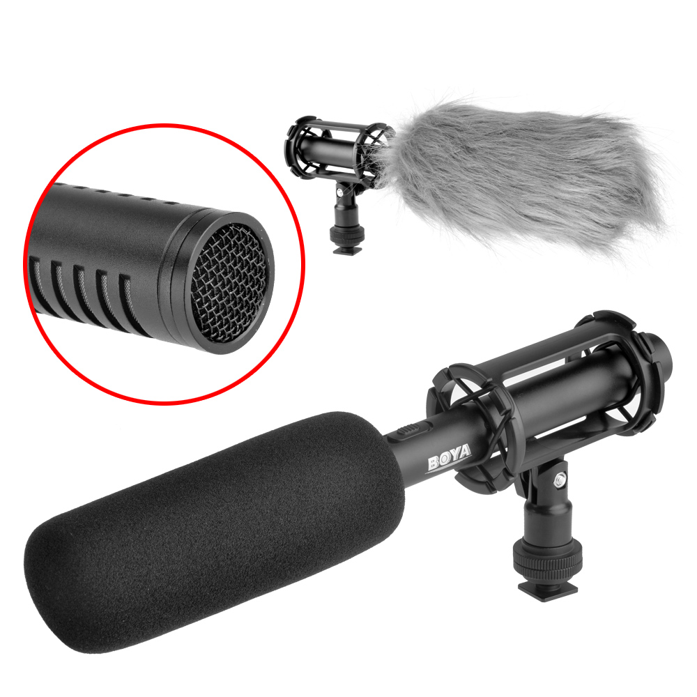BOYA BY-PVM1000 Professional Condenser Shotgun Microphone Video Interview Reporting for Canon Nikon Sony DSLR Cameras P0004714 bb крем the face shop photo blur bb cream spf37 pa объем 40 мл