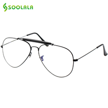 SOOLALA New Brand Fashion Women Titanium Glasses Frames Men Eyeglasses Frame With Glasses Men Titanium Frames Eyewear oculos