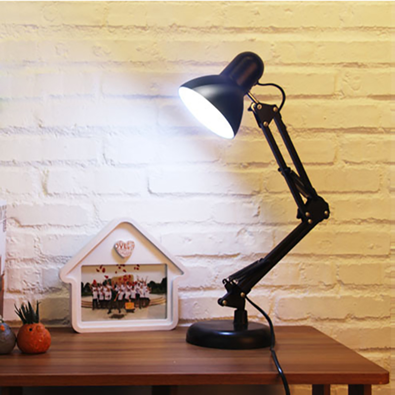 Long Swing Arm adjustable classic desk Lamps E27 LED with switch Table Lamp for Office Reading Light bedside living room long swing arm adjustable classic desk lamps e27 led with switch table lamp for office reading night light bedside home
