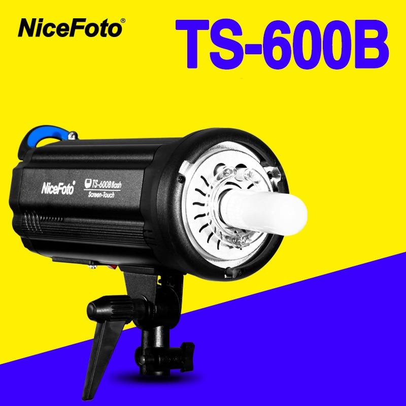 NiceFoto TS-600B 600W Studio Flash 2.4GHz built-in receiver TS600B Professional Studio photography studio light lamp