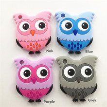 Chenkai 10PCS BPA Free Silicone Owl Pacifier Teether DIY Baby Nursing Chewing Mommy Jewelry Night Animal Grib Toy Accessories