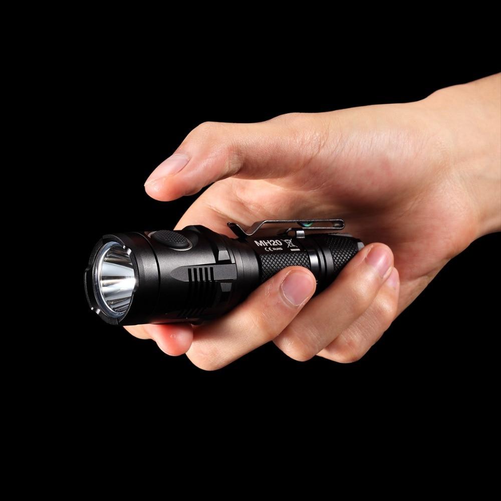 Discount NITECORE MH20 1000Lumen CREE XML2 U2 LED Rechargeable Mini Flashlight Waterproof Torch with 18650 Battery Free Shipping - 3