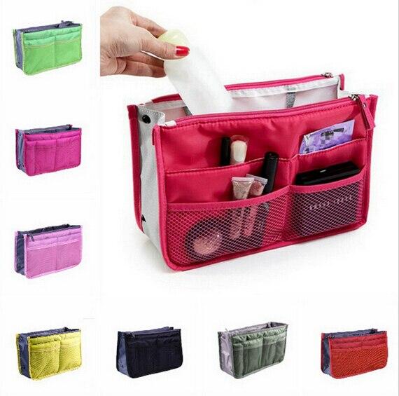 1 Stücke Heißer Verkauf Frauen Tasche In Taschen Kosmetische Aufbewahrungsbox Organizer Makeup Reisehandtasche Seien Sie Im Design Neu