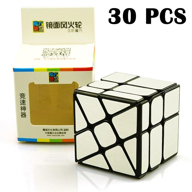 30 pièces MoYu miroir étrange-forme magique cube Rotation lisse argent coloré autocollant vitesse Puzzle Cube jouets pour enfants Neo Cube