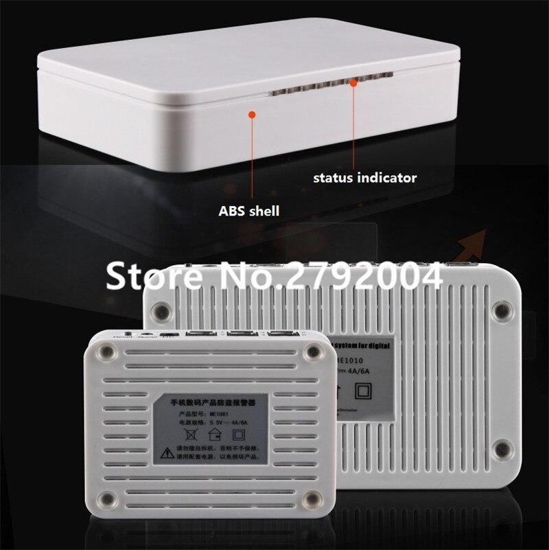 10 портов USB системы безопасности для мобильный магазин украшения сигнализация сотовый телефон стенд