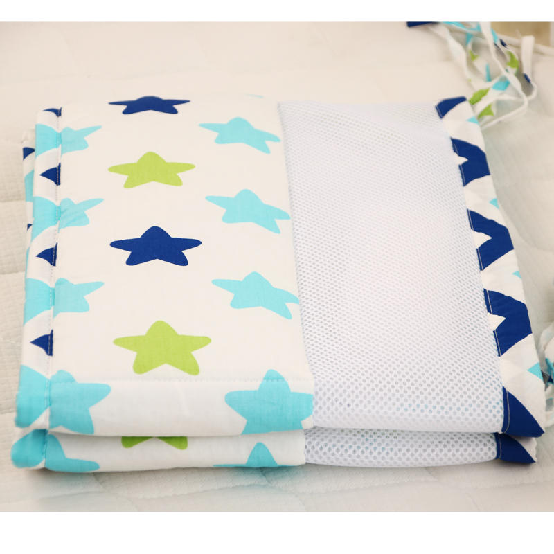 2 pcs 120*30cm summer breathable net Cotton Anti-collision Baby Bumper Cartoon Printing One -Piece Baby Cirb Bumper Baby Bedding2 pcs 120*30cm summer breathable net Cotton Anti-collision Baby Bumper Cartoon Printing One -Piece Baby Cirb Bumper Baby Bedding