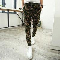 Camo Joggers 2014 New Arrival Fashion Slim Fit Camouflage Jogging Pants Men Harem Sweatpants Cargo Pants