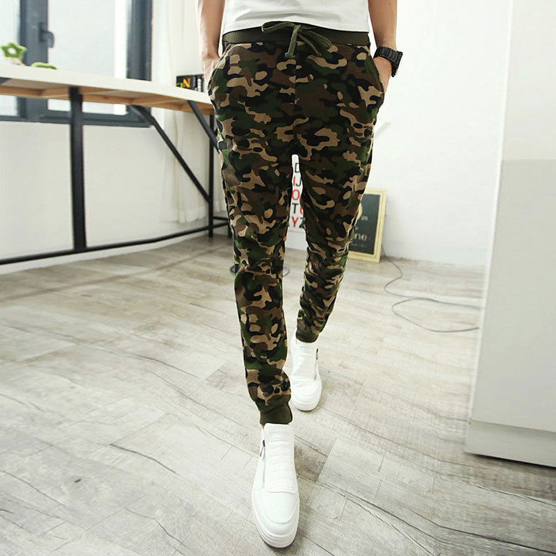 Camo Joggers 2017 New Fashion Slim Fit Camouflage Male ... Штаны Спортивные