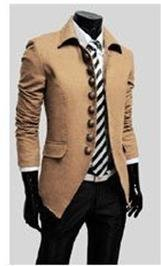 Free Shipping Hot Men's Jackets,Men's Casual Jackets,Contracted clasp LiLing jacket Color:Gray,Black,Camel Size:M-XXL