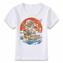 Детская одежда футболка японского аниме игровой значки Гоку ссылка Пикачу Луффи Одна деталь футболка для мальчиков и девочек малышей рубашки футболка