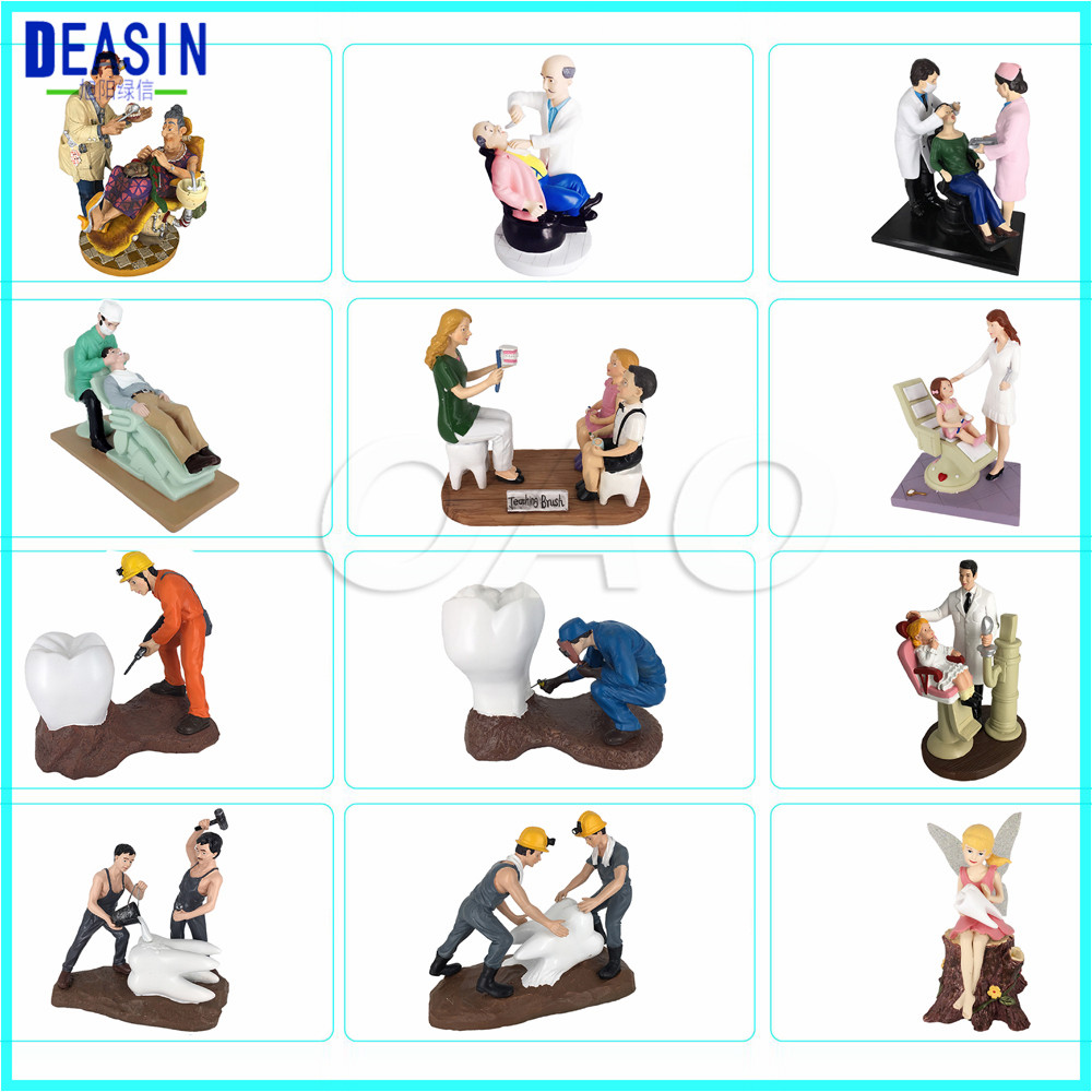 Dentist Gift Resin Crafts Toys Dental Artware Teeth Handicraft Dental Clinic Decoration Furnishing Articles Creative Sculpture