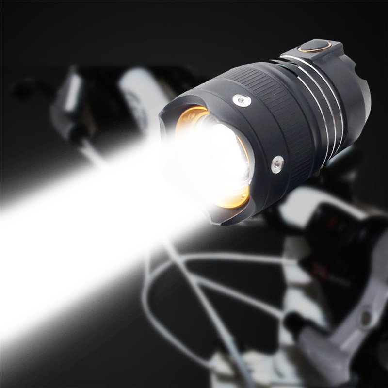 MTB 3 Mode T6 LED Bike Bicycle Light Headlight USB Rechargeable Front Zoom Highlight Bike Outdoor Night Riding