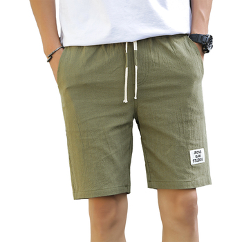 7e62bca45 2019 verano Pantalones cortos casuales para hombre Bermudas transpirable  ropa de pantalones de algodón pantalones de playa de pantalones cortos  Hombre ...