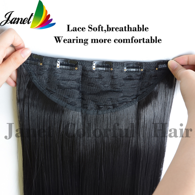 1 black silk straight synthetic hair clip in hair extensions piece 1 black silk straight synthetic hair clip in hair extensions piece length 65cm 120g 25cm pmusecretfo Choice Image
