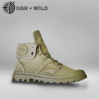 Men Army Boots Platform Ankle Boots Lace Up Male Military Desert Boots High Top Men Canvas