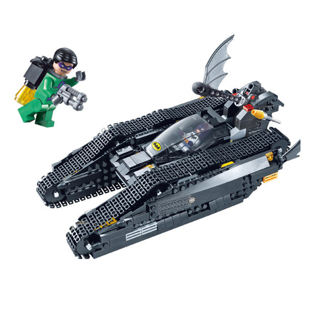 Decool Batman Chariot Superheroes The Bat Tank Superman Super Heroes Building Block  Marvel Model Toy Compatible Legoe decool 7118 batman chariot super heroes of justice building block 518pcs diy educational toys for children compatible legoe