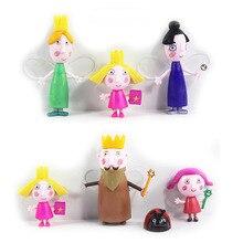 7st / set lite rike ben holly Action Figur 5cm-9cm PVC-figurer Ben och Holly Little Kingdom Mini-figurer Leksaker för barn
