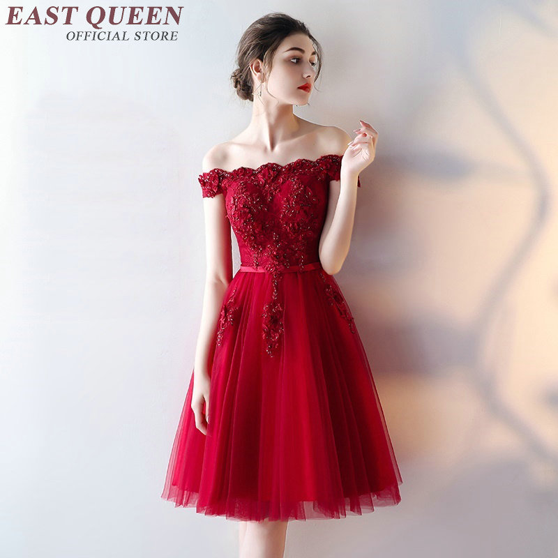 Chinese Wedding Dress Modern Cheongsam 2019 New Chinese Oriental Dresses Red Old Shoulder Dress AA2153 W