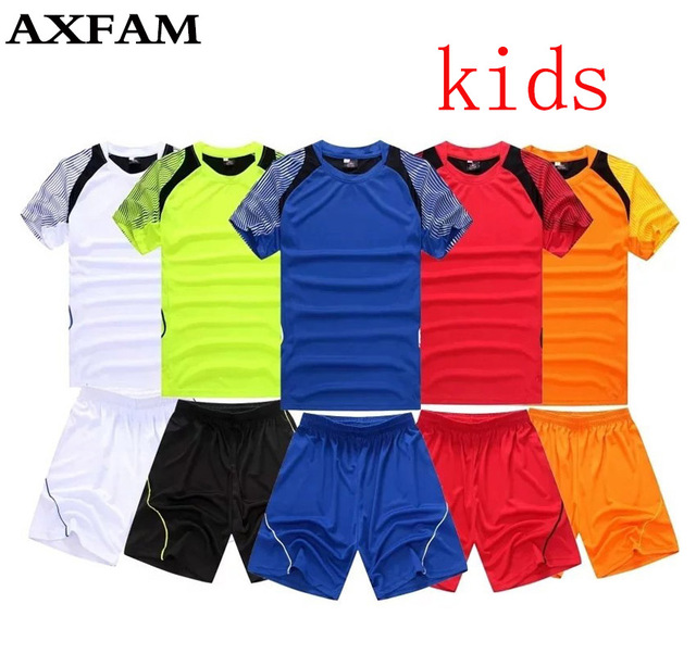 f12c87de883 2017 Kids Football Jerseys Children's Short sleeves Soccer Sets custom  survetement football Uniforms Training Suit